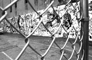 Maschendrahtzau Wand